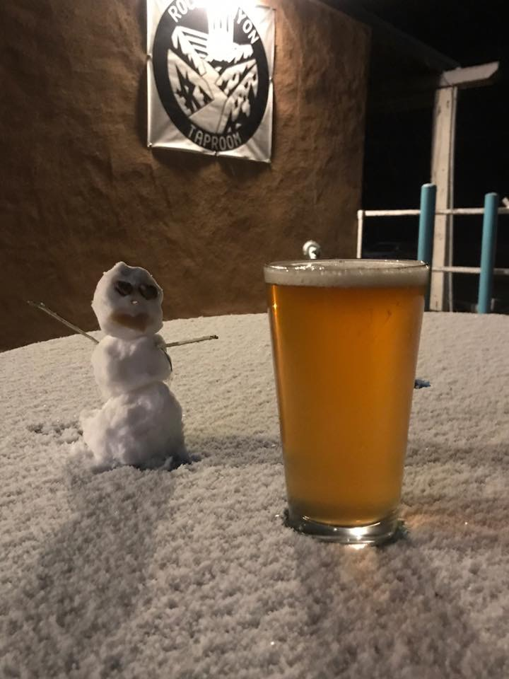 Snowman & Outside Terrace refreshing Beer